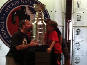 We kiss the Stanley Cup in Toronto