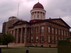 The old state house in Springfield, Illinois