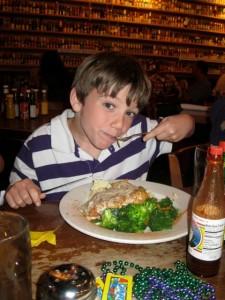 Eli eating