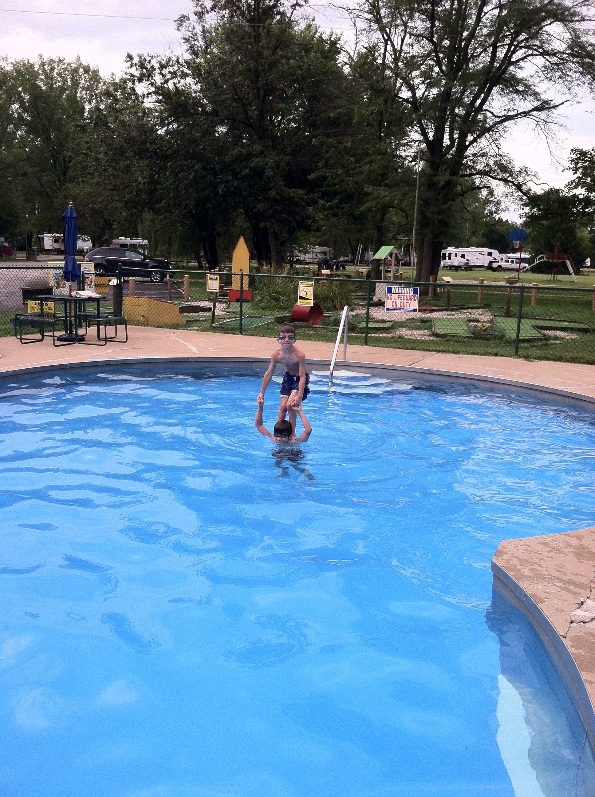 pool while rving