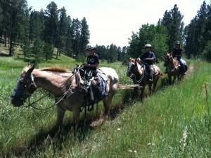 the full time rv family on horseback