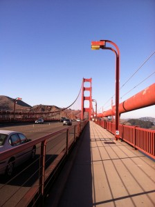 golden gate bridge walk when rving
